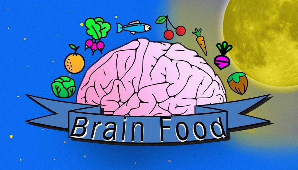 Content brain food infographic head